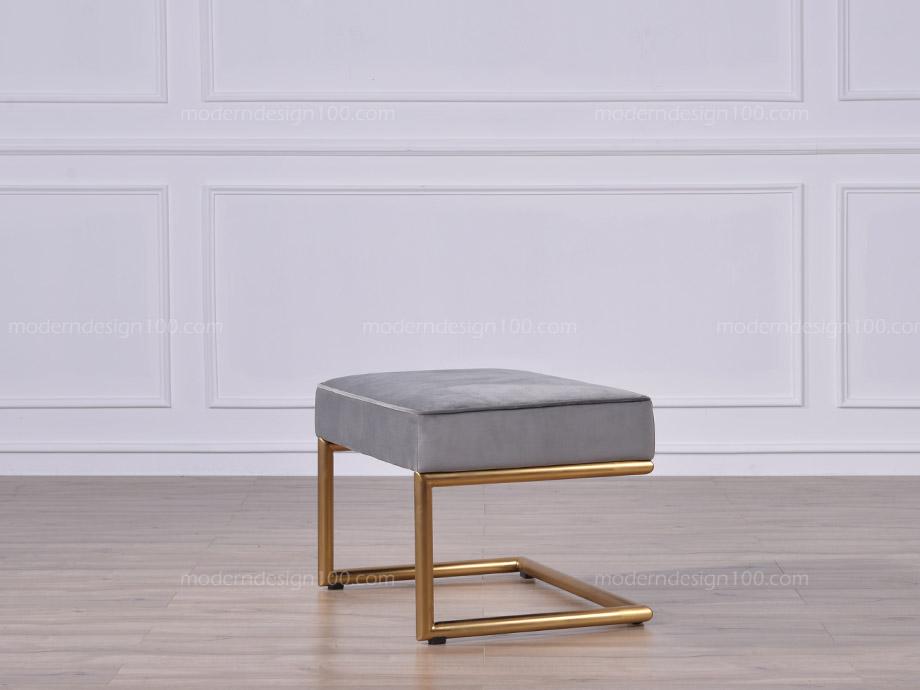 970.00 ¥1385.00: TO3004【Budapest Footstool】Modern Chair, Brass Stool,  Velvet Chair, Design Lounge Chair Stool, Bu.